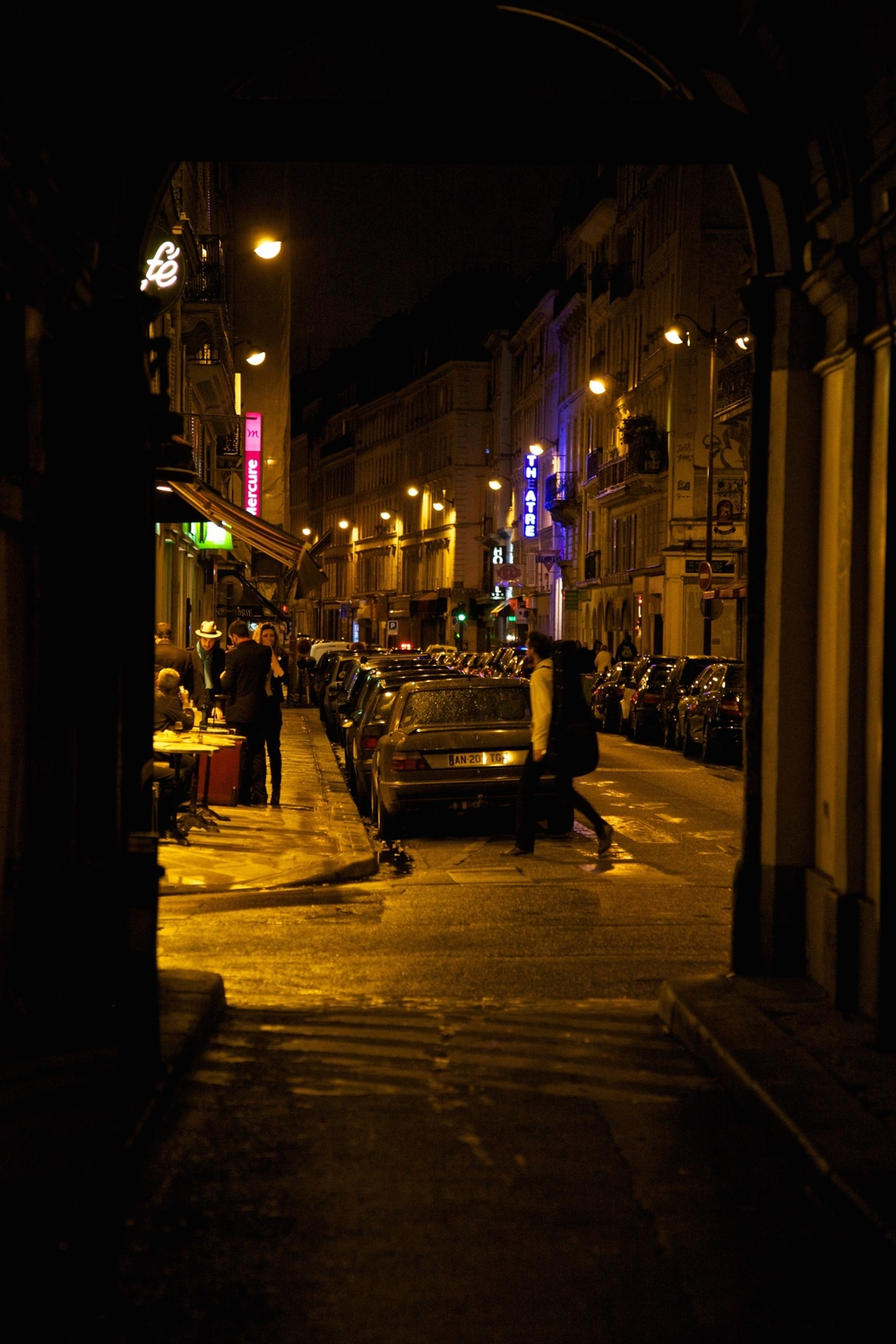 Night scene, Paris, France