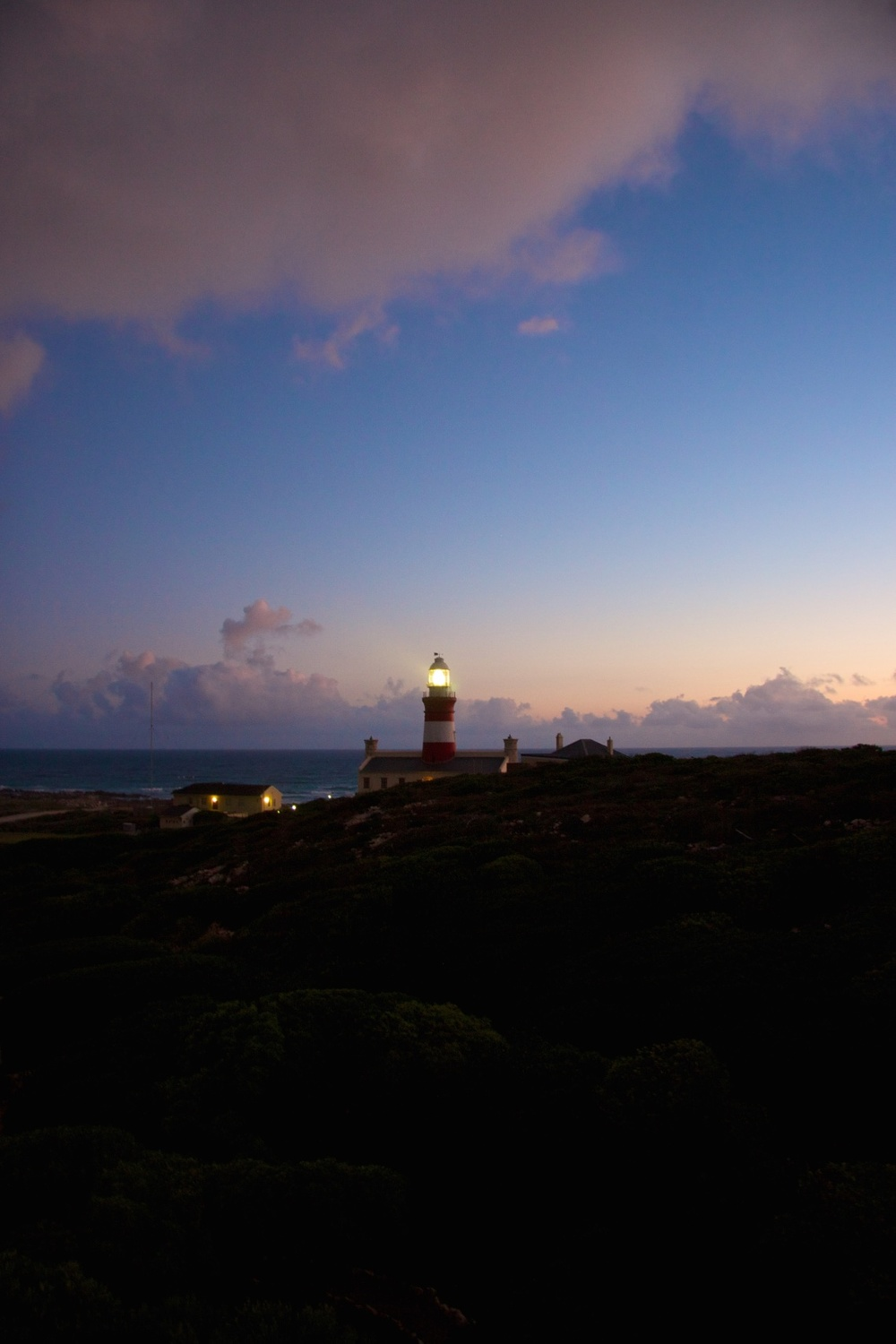 The Lighthouse at another End of the World. Cape Agulhas, Africa's southernmost point.