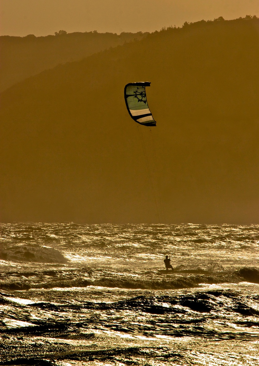 Windsurfing where the Atlantic and the Indian oceans clash. South Africa.