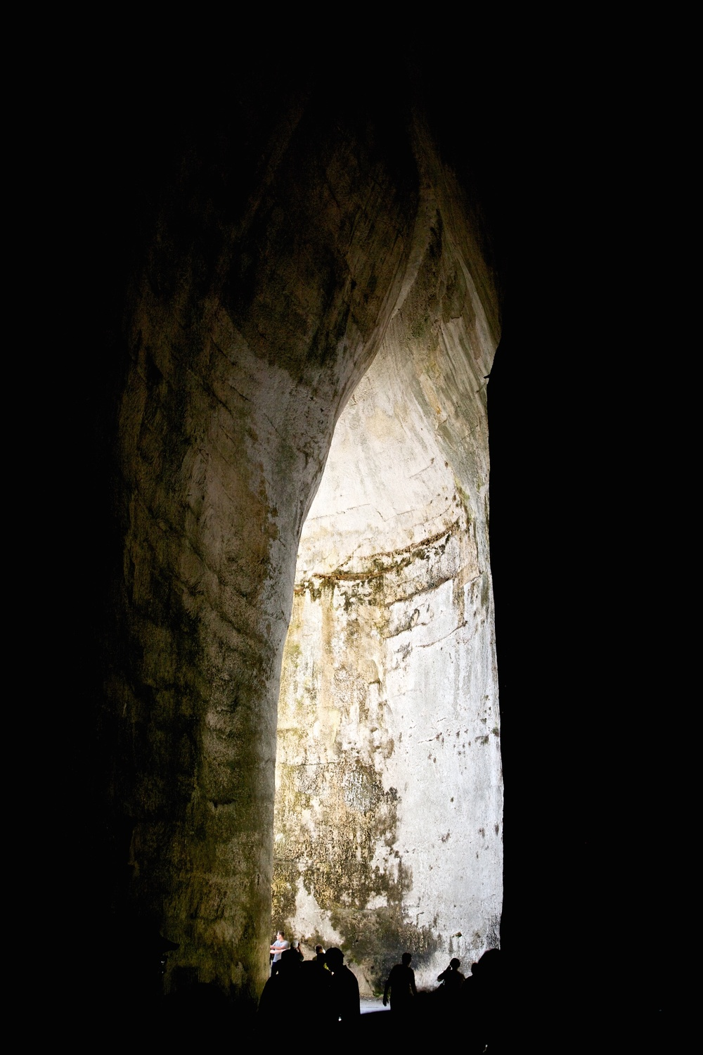 The Ear of Dionysus cave, with its exceptional acoustics. Syracuse, Italy.