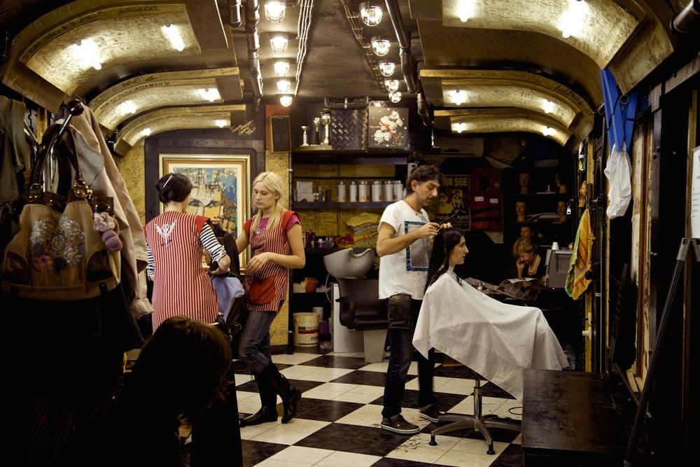 Hair-dressing the Kotor, Montenegro, way.