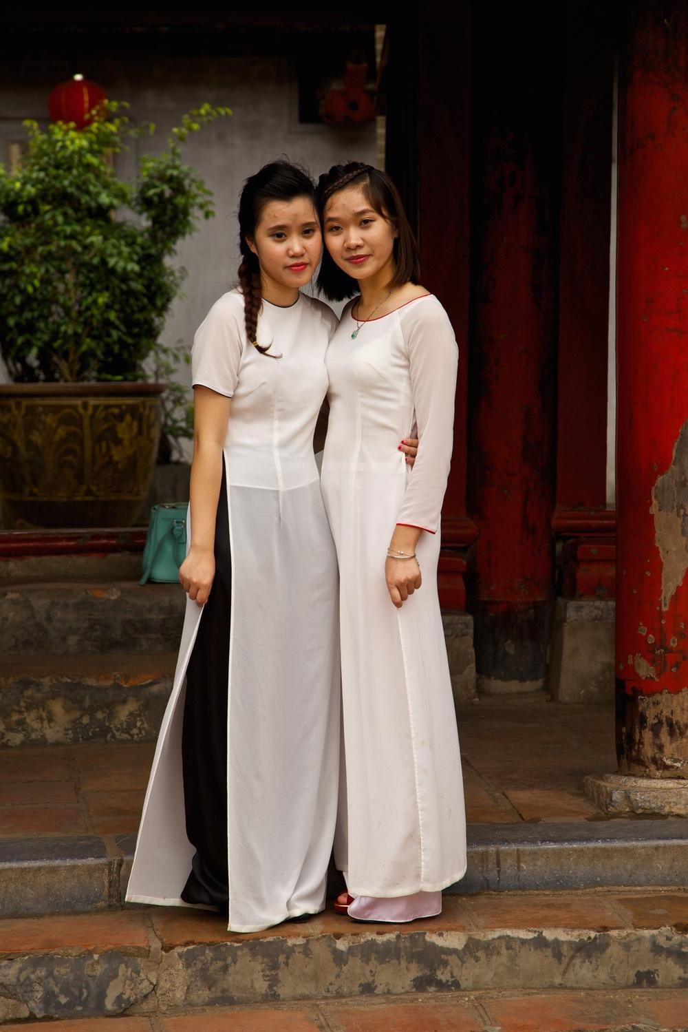 Friends visiting a Vietnamese temple.
