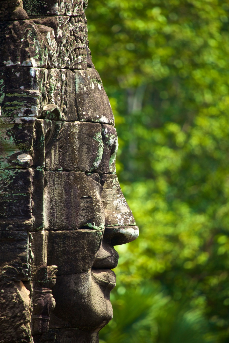 Stone-faced Giant Guardian, Siem Reap, Cambodia.