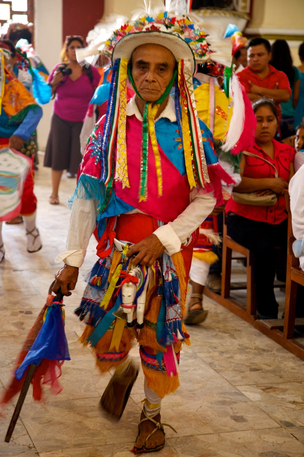 Ritual dance on October 4th. Cuetzalan, Mexico