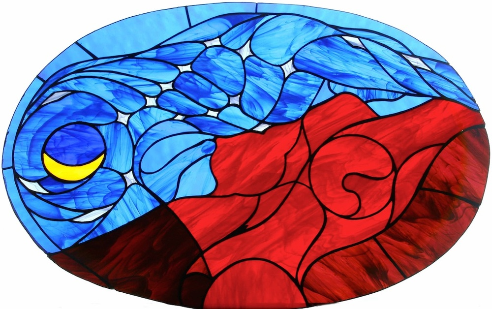 Night Descends on Mother Earth (Stain Glass version)