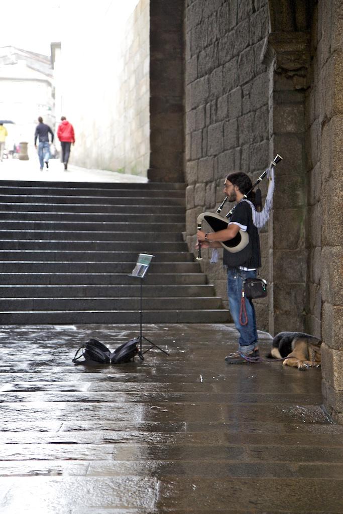 Santiago de Compostela is a long way from Scotland, not  least culturally.