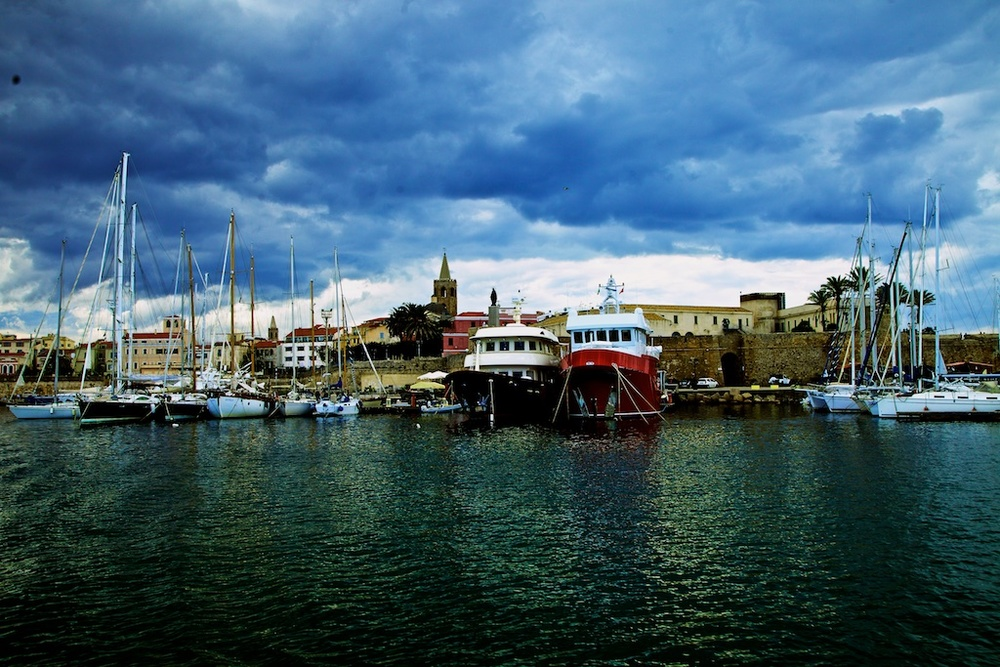 The port of Alghero, Sardinia.