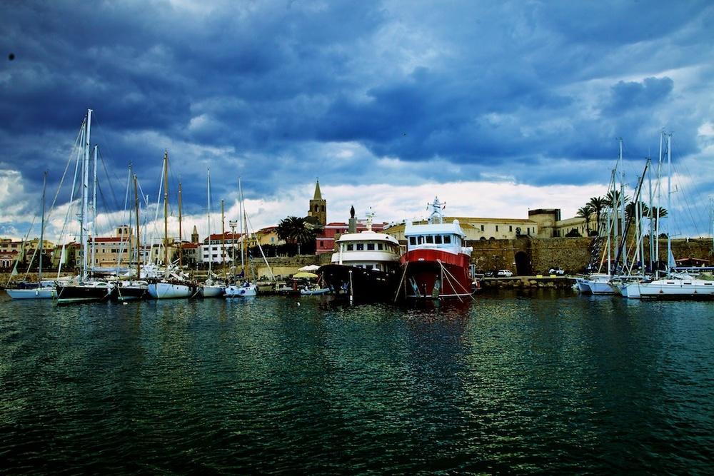 The port of Alghero, Sardinia.