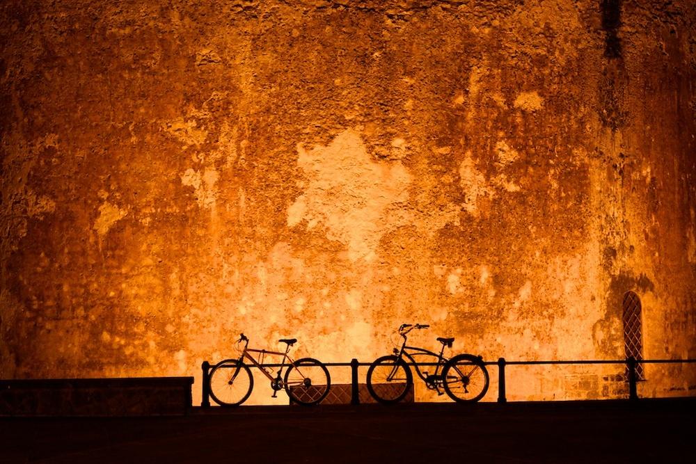 Bicycles available. Alghero, Sardinia.