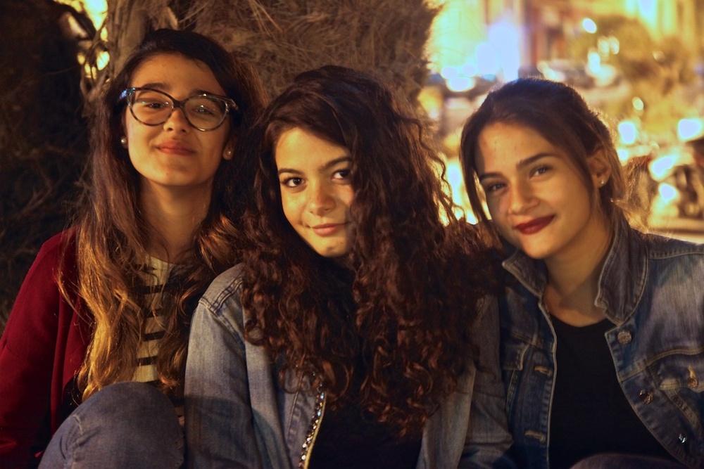 Three friends in Alghero.