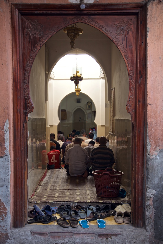 Afternoon prayers. Marrakesh, Morocco