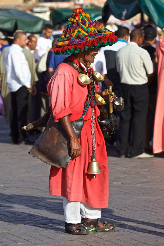 Tribal presence with all the bells and whistles. Marrakesh, Morocco