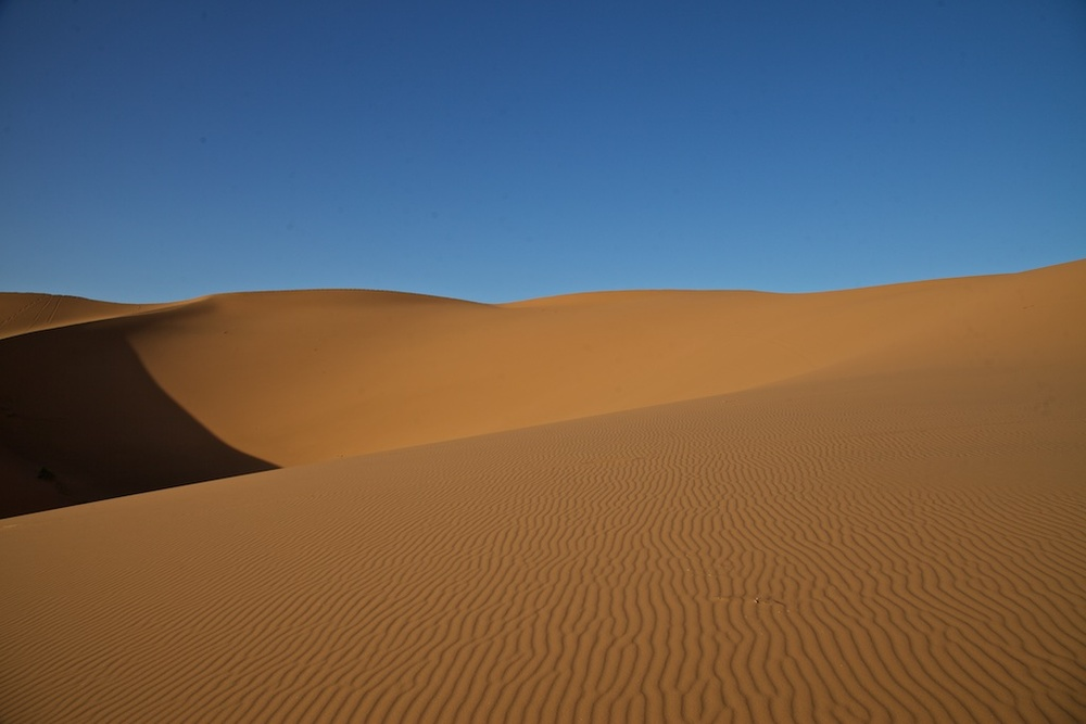The Sahara desert, North Africa.