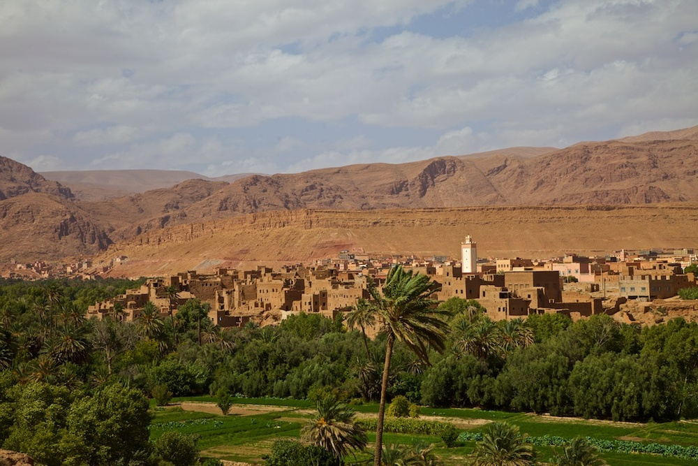 A mudhouse town in Southern Morocco.