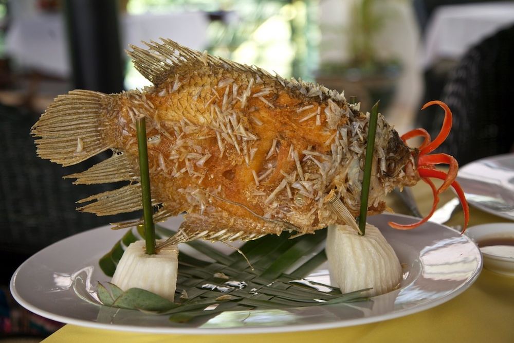 Grilled fish, properly presented.