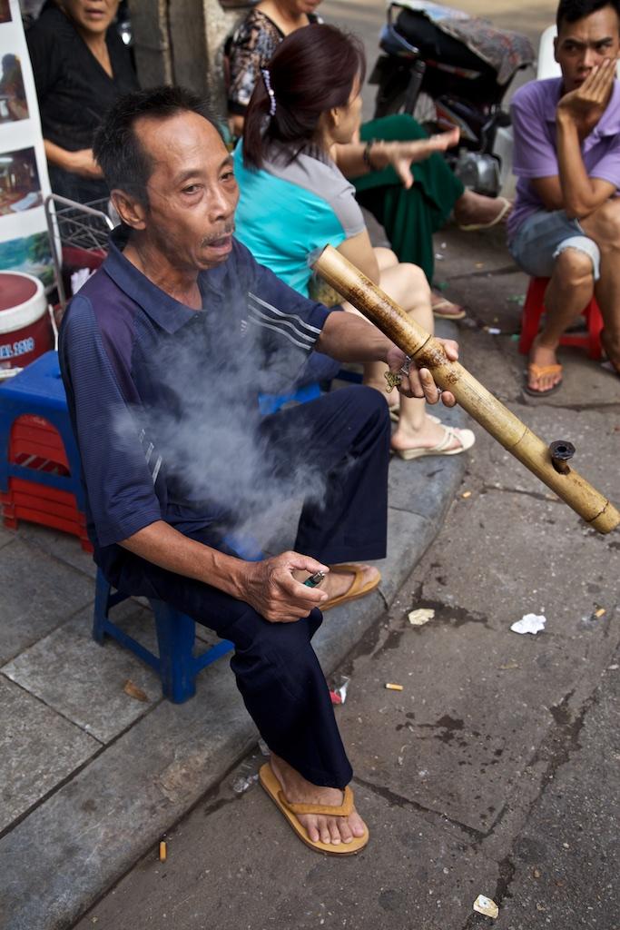 Smoker. Hanoi, Viet Nam