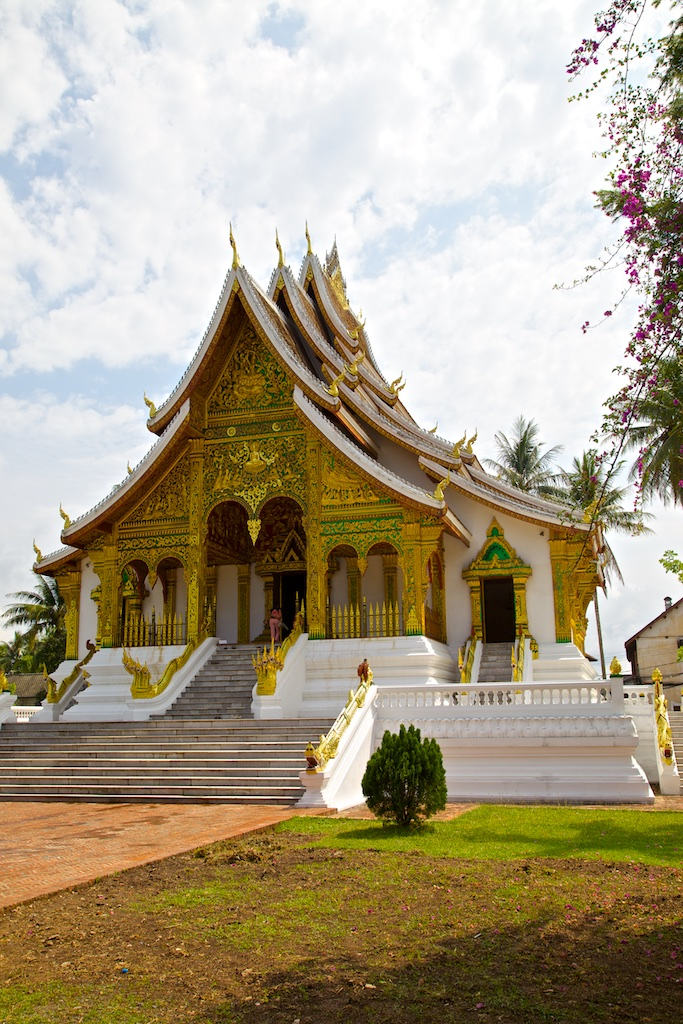 Buddhist temple in Luang Prabang, Laos (exterior)