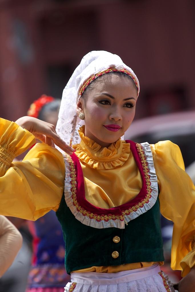 A folklore dancer in Malacca, Malaysia.
