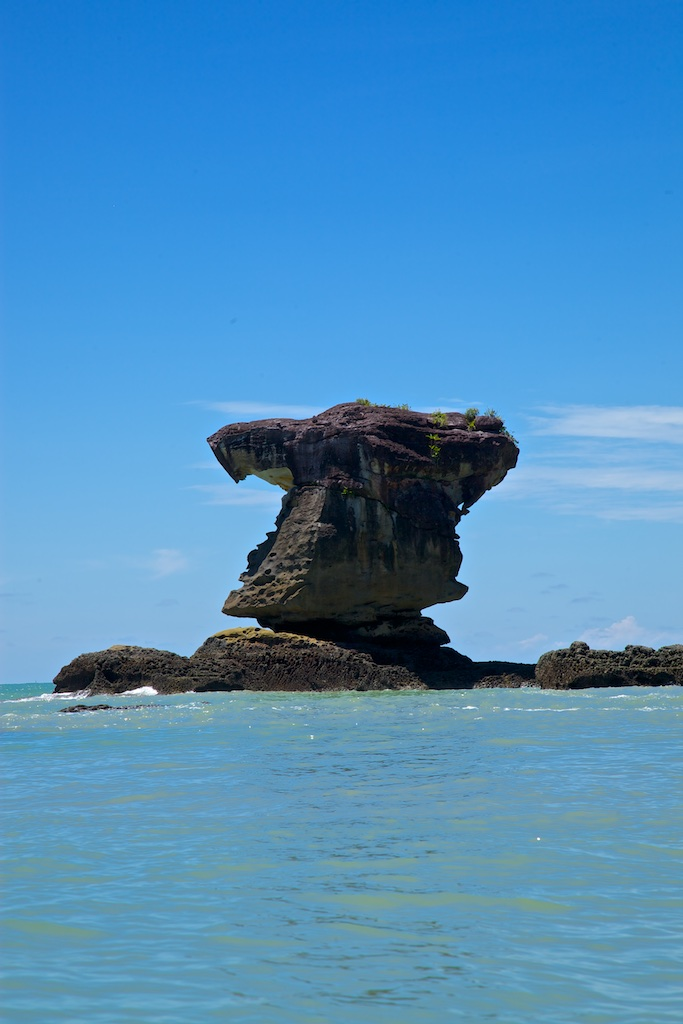 Rock formation, Borneo, Indonesia.