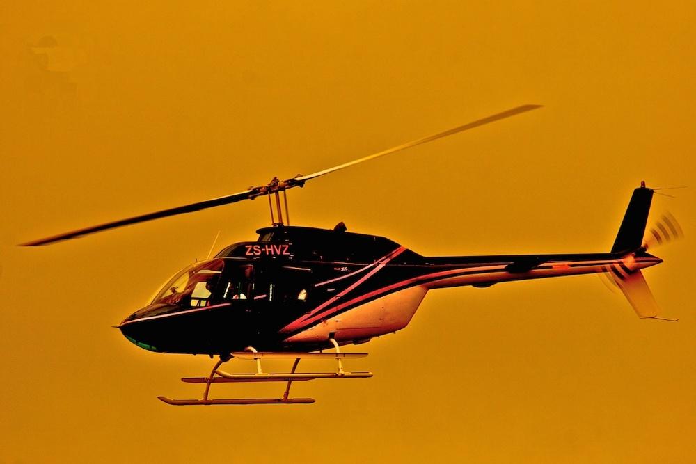 In flight on golden oxygen. South Africa.