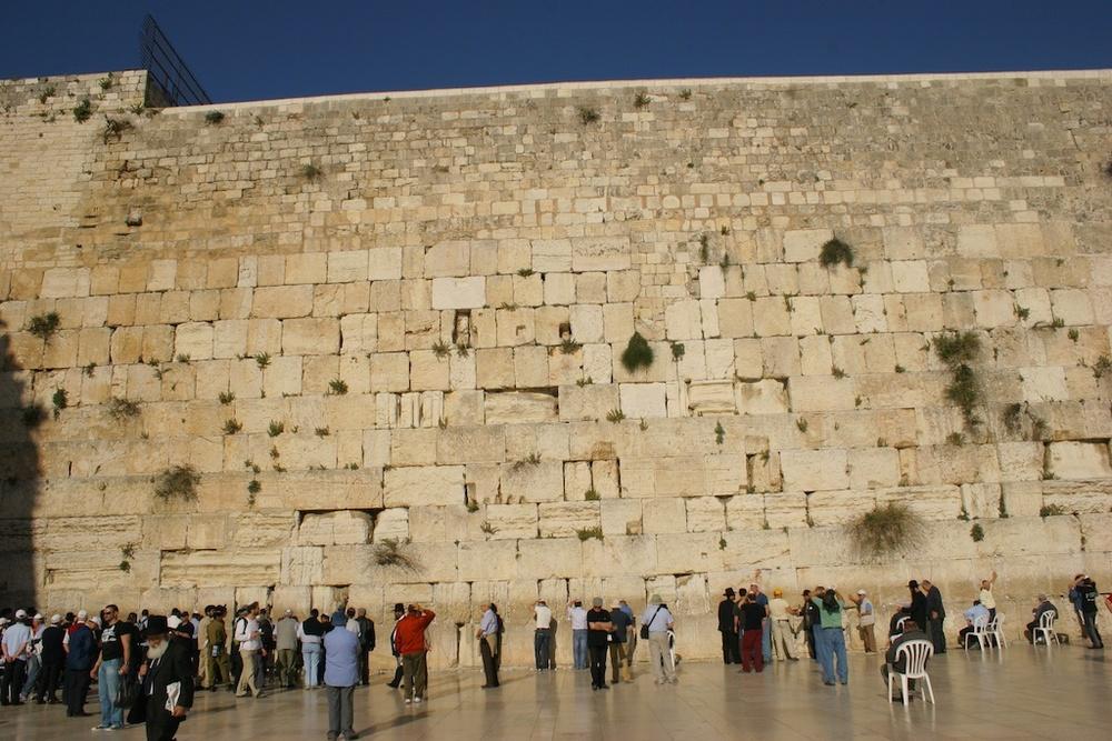 The 2000-year old Wailing Wall. Jerusalem, Israel.