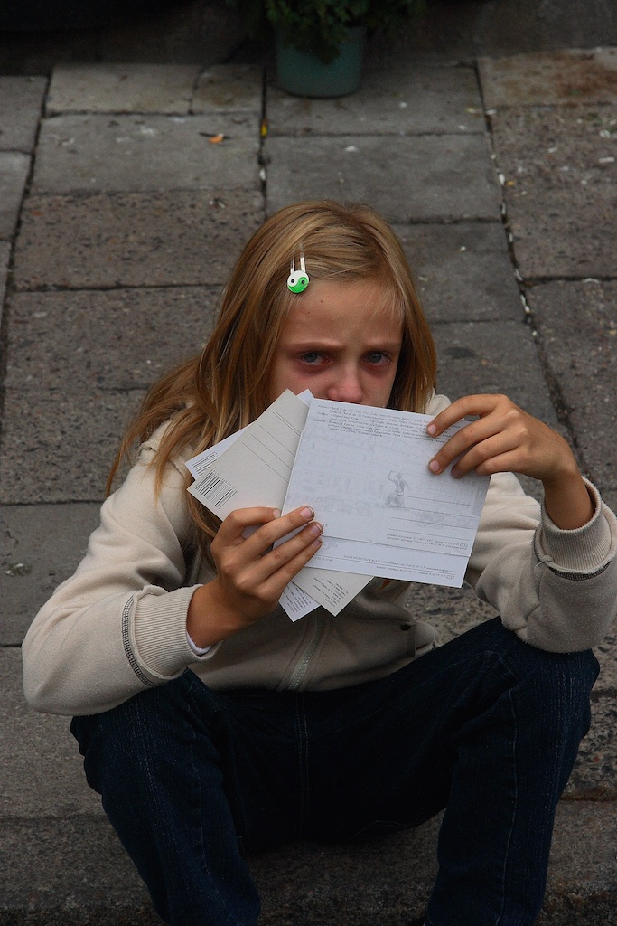 Postcard tragedy. Warzaw, Poland.