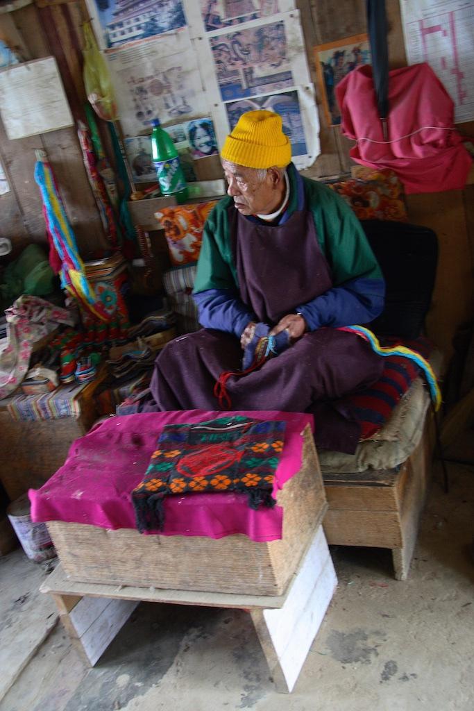 Tibetan immigrant surviving poverty in Darjeeling, India.