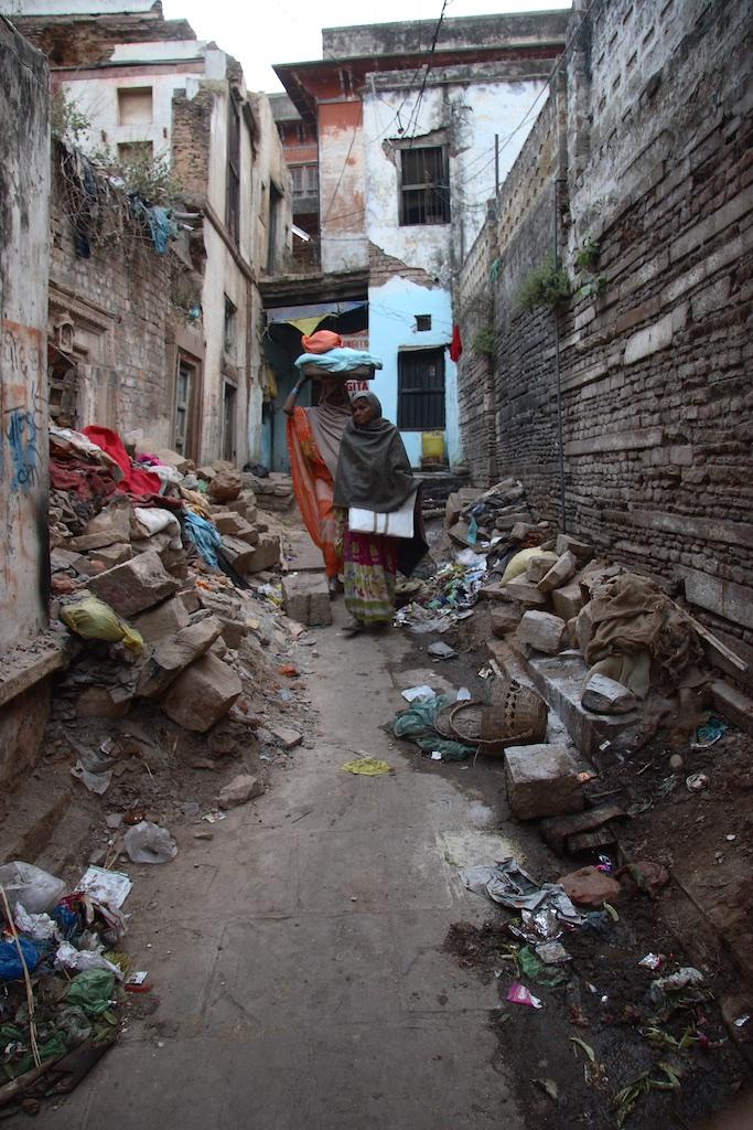 The medieval impression of Varanasi, India.