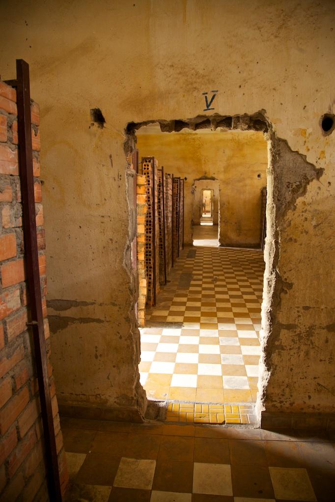 Pol Pot's former interrogation cells in Phnom Penh, Cambodia.
