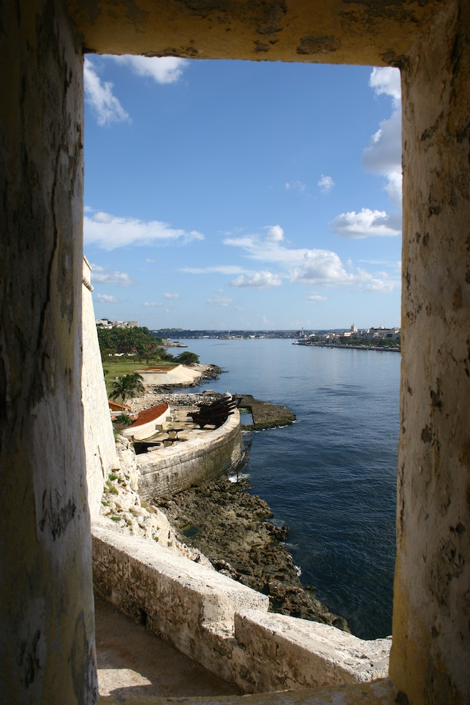 The old fort overlooking Havana, Cuba.