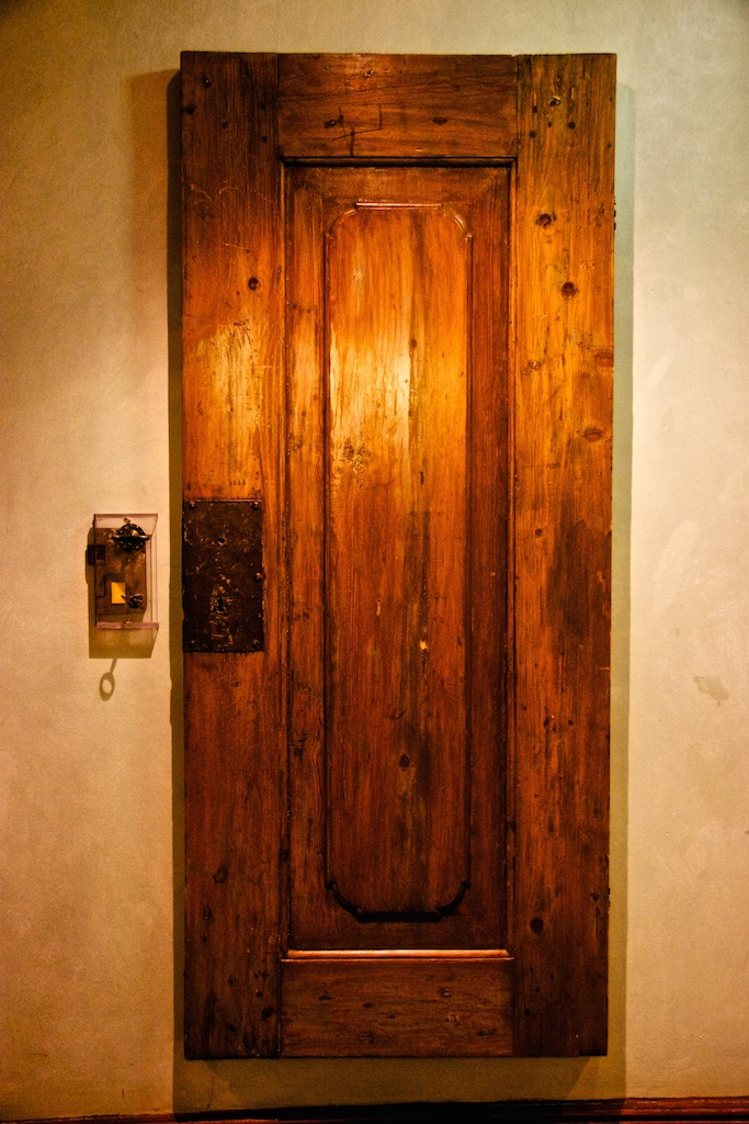 The door as a piece of art on the wall. Cape Town, South Africa.