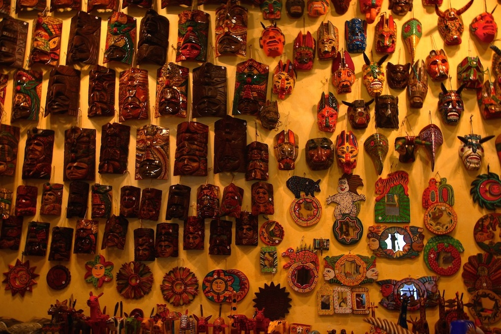 Mask collection. Zacatecas, Mexico.