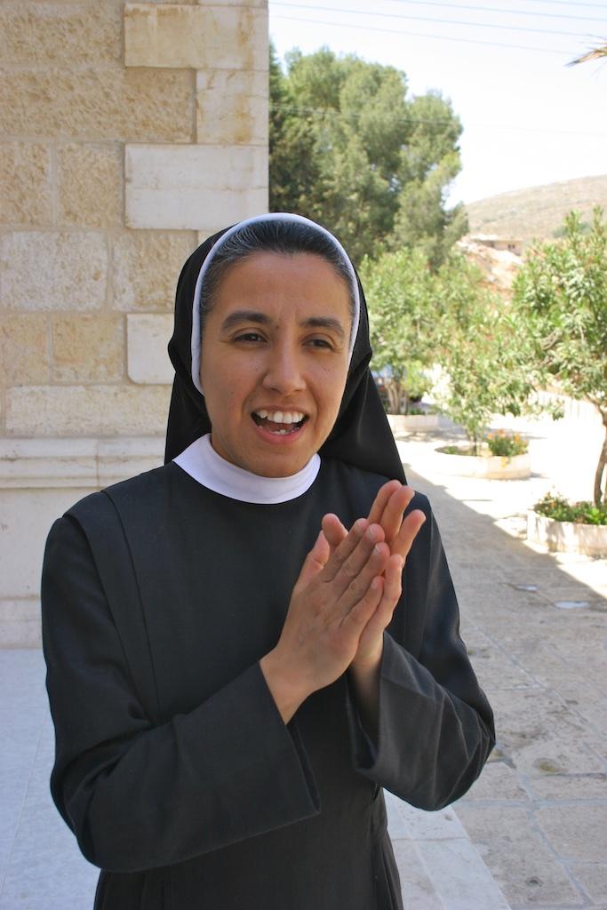 Catholic nun based in Palestine.