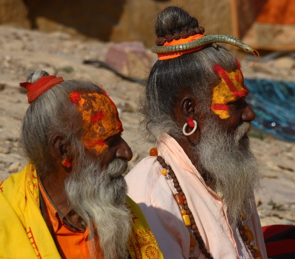 Two sadhus. Varanasi, India