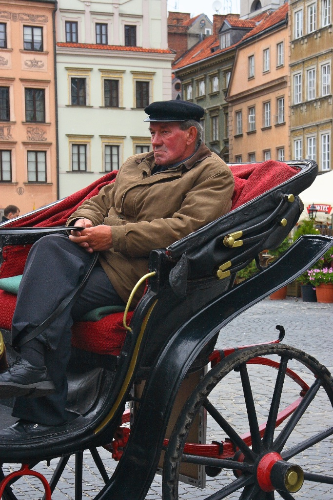 Driving comfortably. Warsaw, Poland.