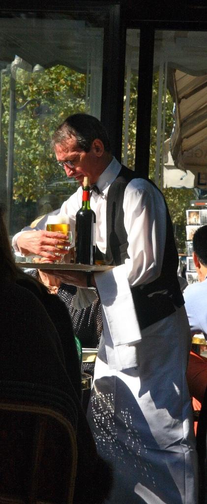 At Café de Flore. Paris, France.
