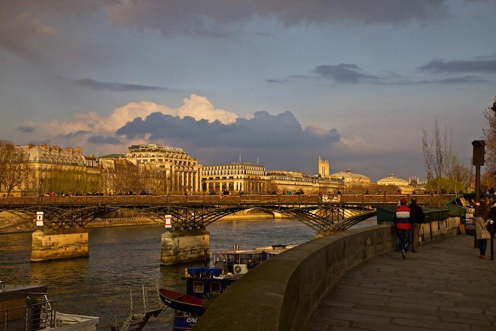 Paris, France, in a golden glow.