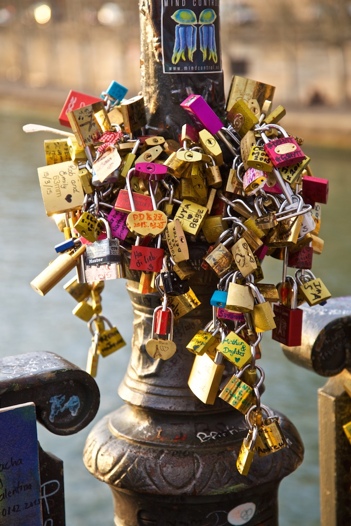 Locks of eternal love. Paris France.