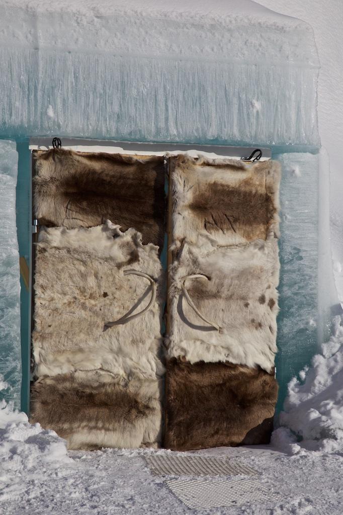 Reindeer skin doors. Ice Hotel, Jukkasjärvi, Sweden.