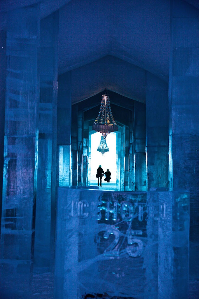 Ice Hotel interior, Jukkasjärvi, Sweden.