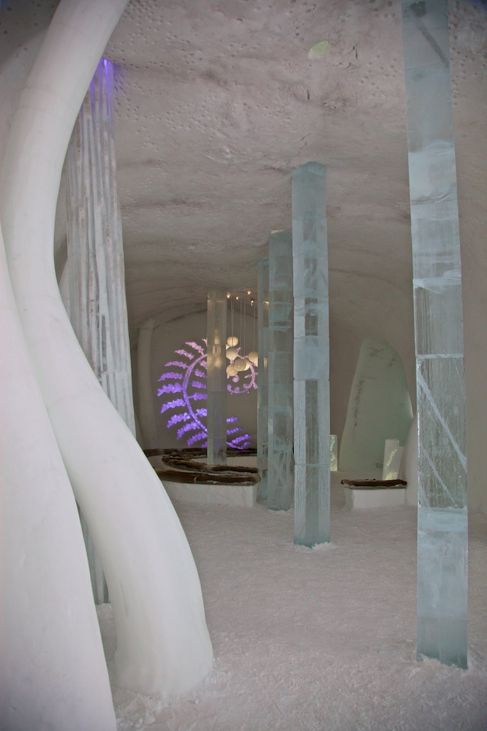 The Ice Hotel chapel, Jukkasjärvi, Sweden.