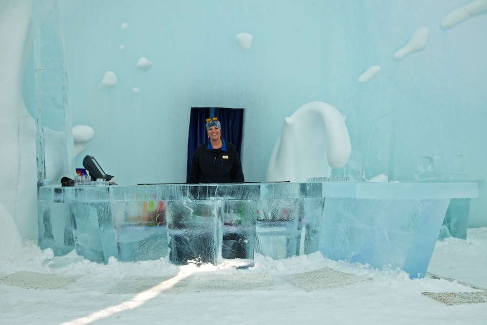The Ice Hotel Bar in Jukkasjärvi, Sweden.
