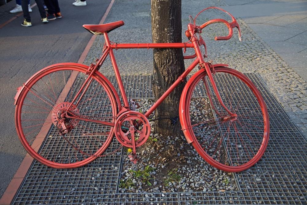 Monochromatic bicycle. Berlin, Germany.