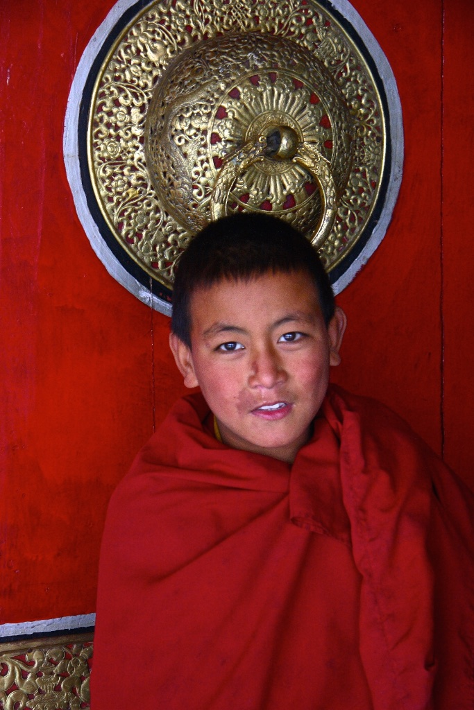 A Bhutanese monk apprentice