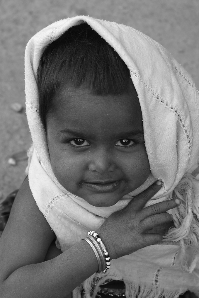 Young and coquettish. Allahabad, India.