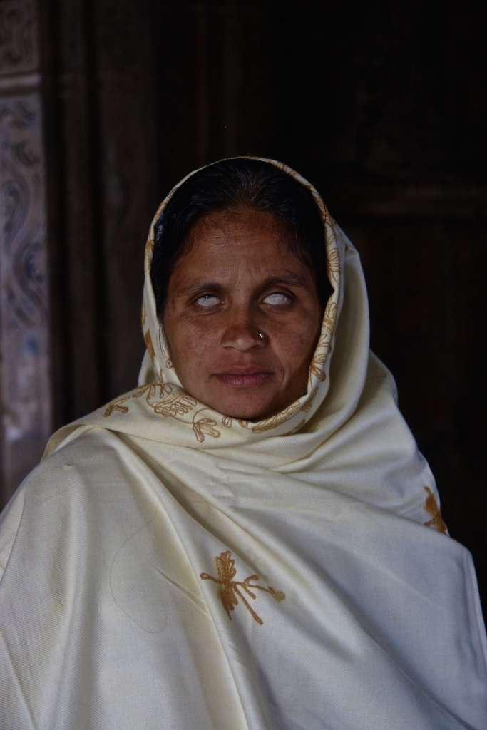 Blind before the marvels of Khajuraho, India.