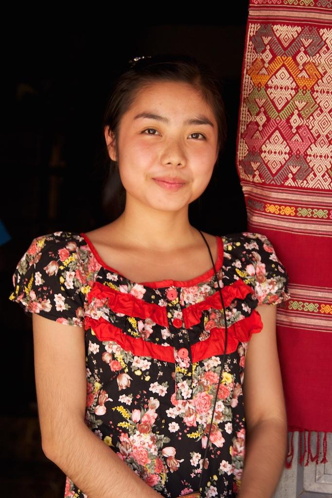 A Vietnamese smile.
