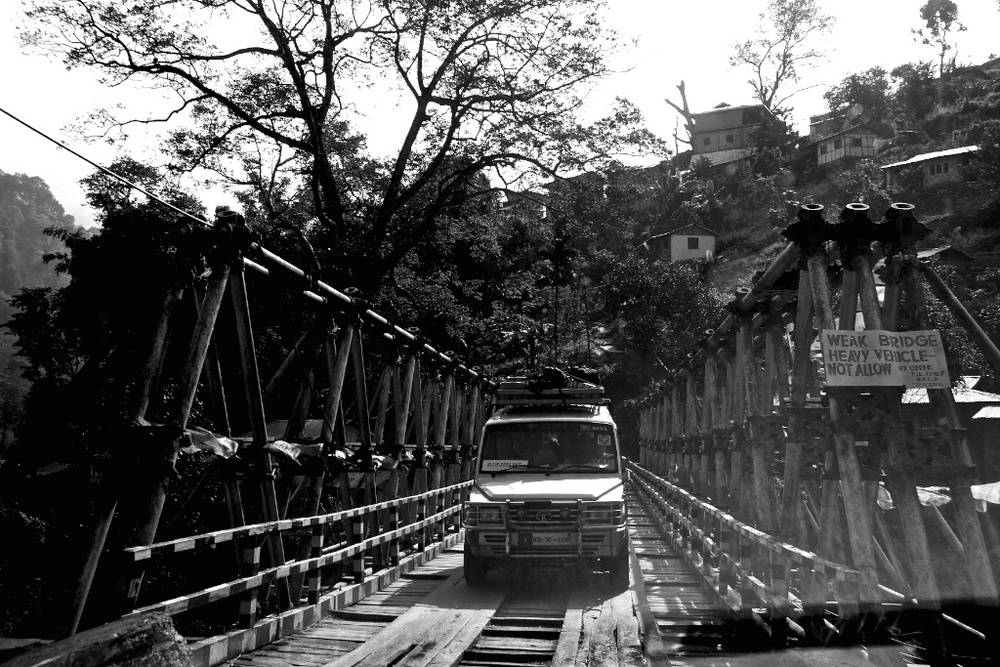 Indian bridge on which heavy vehicles are not allowed.