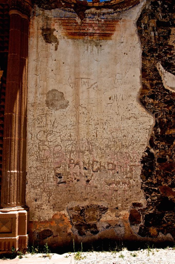 Pancho-bullying graffiti.