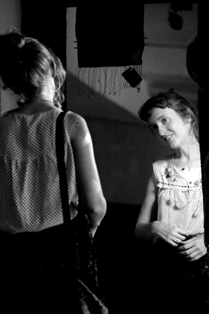 Contemplation in the vanity mirror.